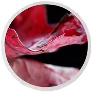 Leaf Study V Round Beach Towel