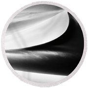 Less Is More. Round Beach Towel