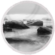 Round Beach Towel featuring the photograph Ebb And Flow by Parker Cunningham