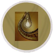 Light Bulb Staircase Round Beach Towel