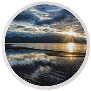 Round Beach Towel featuring the photograph Light The Way by Mitch Shindelbower