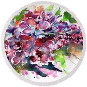 Lilac Round Beach Towel by Kovacs Anna Brigitta