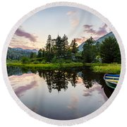 Lily Lake Round Beach Towel