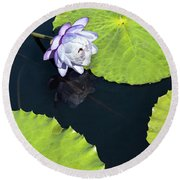 Round Beach Towel featuring the photograph Lily Love by Suzanne Gaff