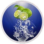 Lime Splash Round Beach Towel