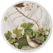 Lincoln Finch Round Beach Towel