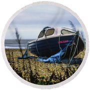 Round Beach Towel featuring the photograph Lindsay by Will Gudgeon