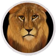 Lion - The King Of The Jungle Round Beach Towel
