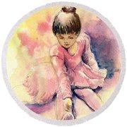 Little Ballerina Round Beach Towel