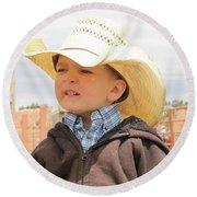 Little Cowboy Round Beach Towel