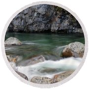 Little Susitna River Round Beach Towel