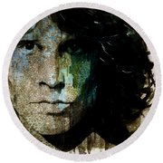 Lizard King / Jim Morrison Round Beach Towel