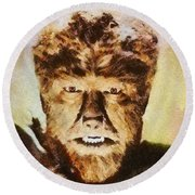 Lon Chaney Jr, As The Wolfman Round Beach Towel