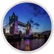 Round Beach Towel featuring the photograph London England by Mariusz Czajkowski