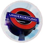 London Underground Round Beach Towel