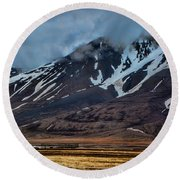 Longyearbyen Round Beach Towel by Shirley Mangini