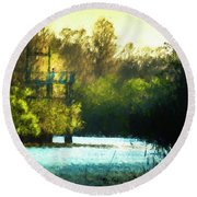 Looking For You Round Beach Towel