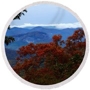 Looking Glass Rock Round Beach Towel