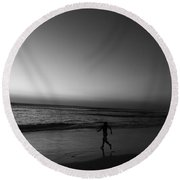 Round Beach Towel featuring the photograph Lost by Beto Machado
