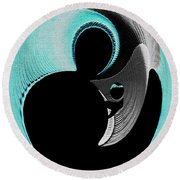Round Beach Towel featuring the digital art Love Is   by Paula Ayers