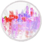 Love Los Angeles Round Beach Towel