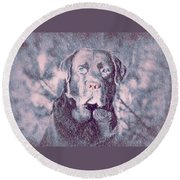 Love Of Dogs Round Beach Towel by Allen Beilschmidt
