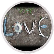 Love Round Beach Towel by Tanielle Childers