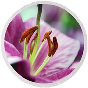 Lovely Lily Round Beach Towel
