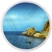 Lovers Cove Round Beach Towel