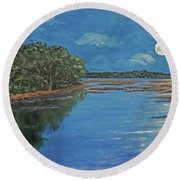 Lowcountry Moon Round Beach Towel