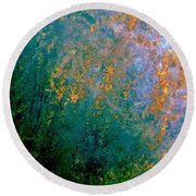 Lush Foliage Round Beach Towel