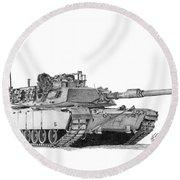 M1a1 Tank Round Beach Towel