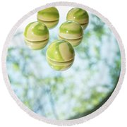 Macha Tea Chocolate Round Beach Towel