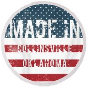 Made In Collinsville, Oklahoma Round Beach Towel