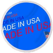 Made In Usa Round Beach Towel