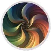 Maelstrom Round Beach Towel by Lyle Hatch