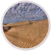 Magic Of The Dunes Round Beach Towel