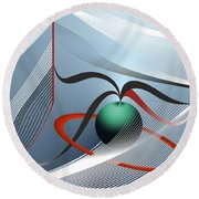 Round Beach Towel featuring the digital art Magnetic Fields by Leo Symon