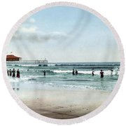 Maine, Old Orchard, 1900. Round Beach Towel