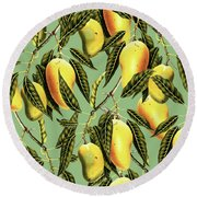 Mango Season Round Beach Towel