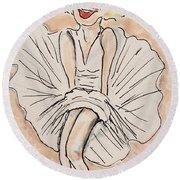 Marilyn Monroe Round Beach Towel