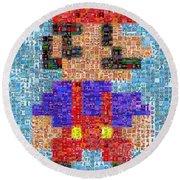 Mario Mosaic Round Beach Towel