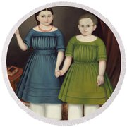 Mary And Francis Wilcox Round Beach Towel