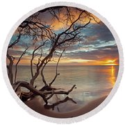 Maui Magic Round Beach Towel by James Roemmling