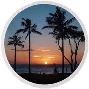 Maui Sunset Round Beach Towel