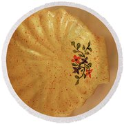 Medium Shell Plate Round Beach Towel by Itzhak Richter