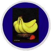 Round Beach Towel featuring the photograph Mellow Yellows And Red by Elf Evans