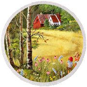 Memories For Mom Round Beach Towel by Marilyn Smith