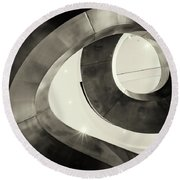 Abstract Metal Spiral Staircase Round Beach Towel
