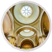 Round Beach Towel featuring the photograph Metropolitan Museum Of New York by Marvin Spates